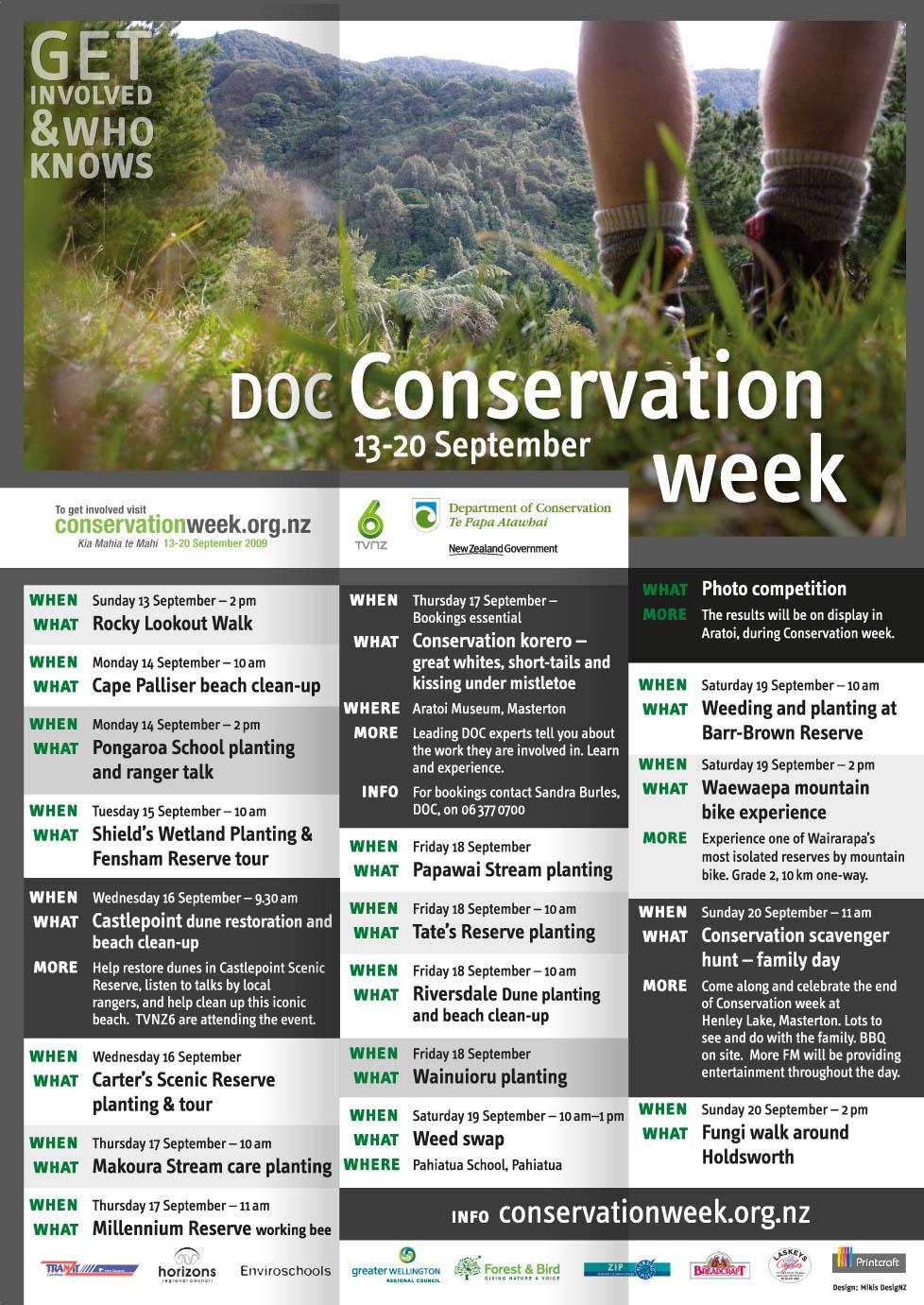 portfolio mikis DOC Conservation Week