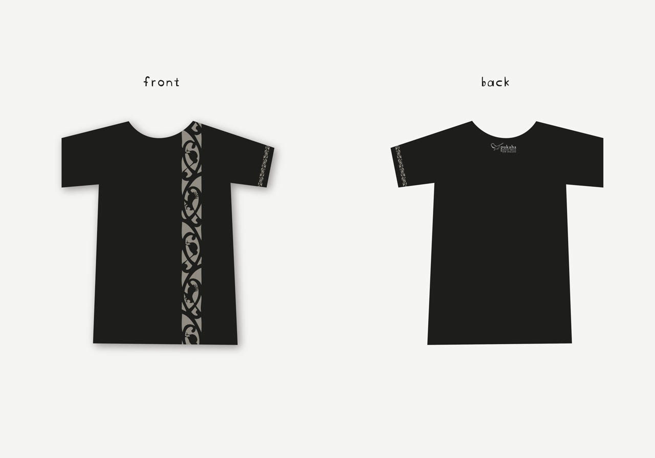 portfolio mikis Tee Shirt Design pukaha